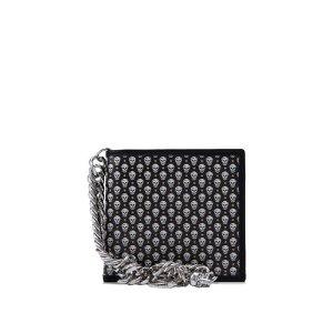 Alexander McQueen Classic Wallet with Chain