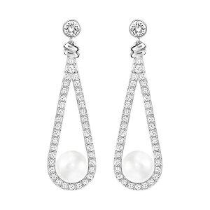 Enlace Pierced Earrings - EXCLUSIVE PRE-SALE - Swarovski Online Shop
