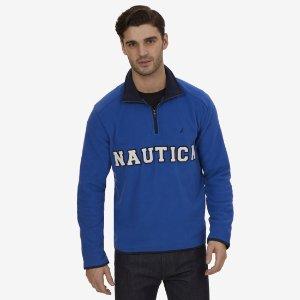 Nautex Quarter Zip Fleece - Clear Skies Blue | Nautica