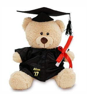"11"" Cap and Gown Bear @ 800Bear"