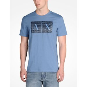 Armani Exchange TRIANGLE LOGO TEE, Logo Tee for Men - A|X Online Store