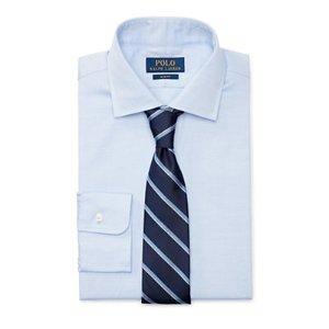 Slim-Fit Cotton Dobby Shirt - Slim Fit  Dress Shirts - RalphLauren.com
