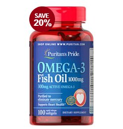 5  for $19.98Puritan's Pride Omega-3 Fish Oil 1000 mg