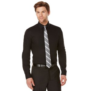 Ultra Slim Solid Dress Shirt   Perry Ellis