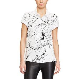 Paint-Splattered Polo Shirt - Polo Shirts � Women - RalphLauren.com