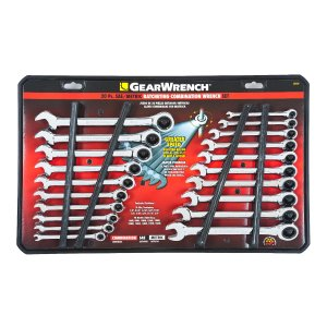 GearWrench 20-piece Combination Ratcheting Wrench Set Inch & Metric