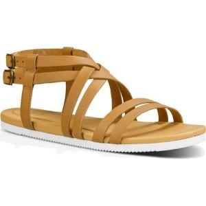 Womens Teva Avalina Crossover Leather Sandal