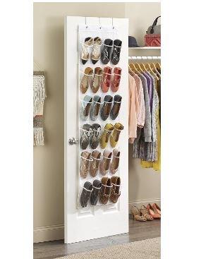 史低价! $10Whitmor 6044-13-CTF 白色透明系列挂门鞋子收纳袋