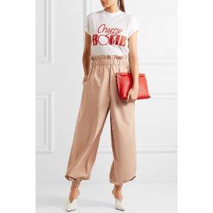 GANNI   Phillips cotton wide-leg pants