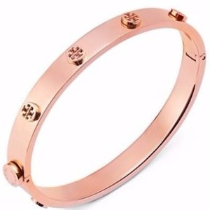 Extra 30% OffTory Burch Logo Studded Hinge Bangle Sale @ Bloomingdales
