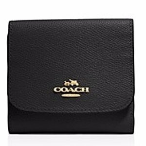 COACH Crossgrain Leather Small Wallet | Bloomingdale's
