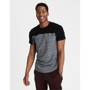 AEO Flex Colorblock Graphic Tee, Bold Black | American Eagle Outfitters