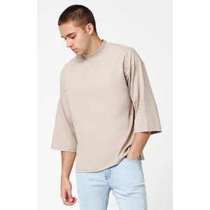 PacSun Pawn Mock Neck Relaxed 3/4 Sleeve T-Shirt at PacSun.com