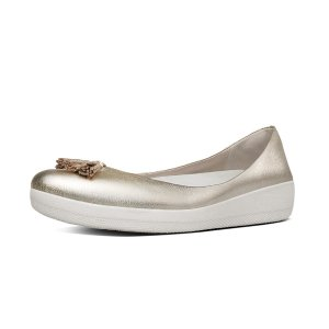 Leather Tassel Superballerina Pale GoldFitFlop Official Online Store