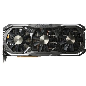 ZOTAC GeForce GTX 1080 AMP! Extreme+, ZT-P10800B-10P, 8GB 11Gbps GDDR5X IceStorm Cooling, Metal Wraparound Carbon ExoArmor exterior, Dual-blade EKO Fan, Spectra Lighting, PowerBoost, FREEZE Fan Stop |
