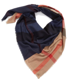 Burberry Check Silk Blend Travel Scarf