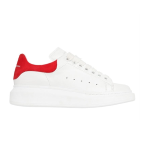 ALEXANDER MCQUEEN - 40MM LEATHER & SUEDE SNEAKERS - SNEAKERS - WHITE/RED