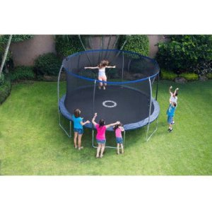 BouncePro 14' Trampoline with Proflex Enclosure and Electron Shooter Game, Dark Blue - Walmart.com