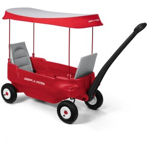 Radio Flyer Deluxe All-Terrain Pathfinder Wagon with Canopy