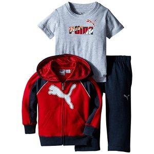 Amazon.com: PUMA Boys' 3pc Hoodie, Tee, Pant Set: Clothing