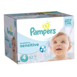 Pampers Swaddlers纸尿片(敏感肌肤,Size 4,62片)