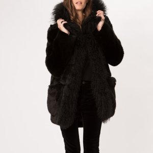 KINGKONG Faux-fur coat - Coats & Jackets - Maje.com