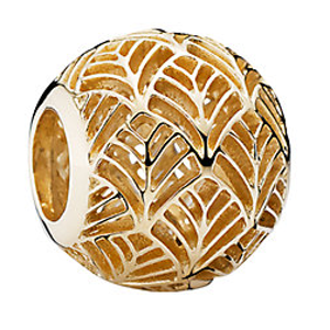 PANDORA 14K Gold Palm Leaf Charm