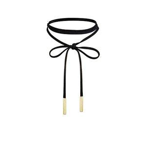 Amazon.com: UdobuyPunk Gothic Long Black Velvet PU Leather Chain Necklace Stretch Tattoo Choker Elastic Tassel Necklaces: Jewelry