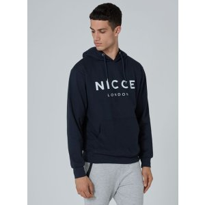 NICCE Navy Logo Hoodie - Hoodies & Sweatshirts - Clothing - TOPMAN USA