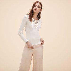 MATANA Locknit jumper with lacing