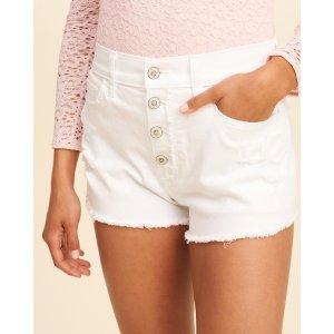 Girls High-Rise Denim Vintage Shorts | Girls Bottoms | HollisterCo.com