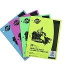 CDN$0.57包邮(原价CDN$3.87)Hilroy Canada Stitched 3孔练习本,  4本, 32页装