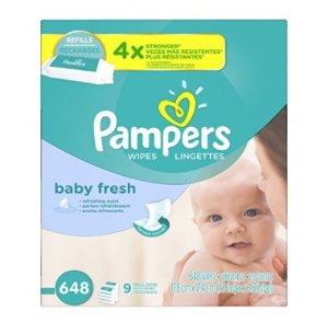 $12.1Pampers Baby Wipes Baby Fresh 9X Refill, 648 Diaper Wipes