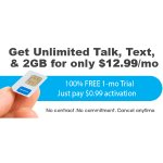 FreedomPop Unlimited Talk, Text, and 2GB LTE 1-mo. Trial