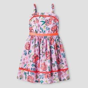 Girls' Floral Print Dress Cat & Jack™ - Pink : Target