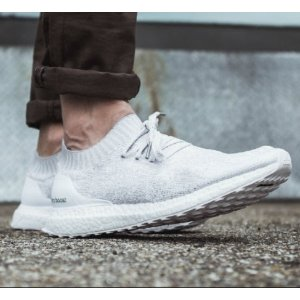 adidas Ultra Boost Uncaged - Men's - Running - Shoes - White/Crystal White