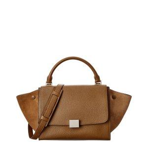 Celine Celine Small Trapeze Leather Shoulder Bag | Bluefly.Com