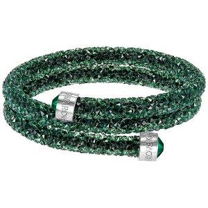 Crystaldust Bangle Double, Green - Jewelry - Swarovski Online Shop