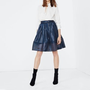 JAMES Puffball skirt in openwork knit - Skirts & Shorts - Maje.com