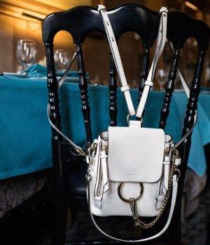 $1450Chloé Off-White Mini Faye Backpack
