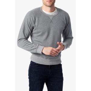 Paneled Crewneck Sweatshirt in Heather Grey - 7FORALLMANKIND
