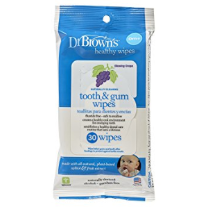 $4Dr. Brown's Tooth and Gum Wipes, 30 Count