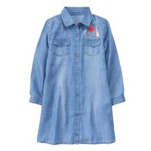 Patch Jean Shirt Dress