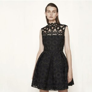 BONDED LACE GUIPURE DRESS