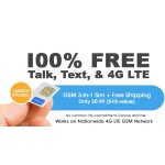 FreedomPop 3-In-1 4G LTE SIM Kit: Unlimited Talk & Text + 2GB Data Trial