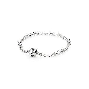 PANDORA Silver Five Clip Station Bracelet