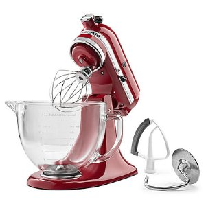 $199.99KitchenAid® 5 qt. Stand Mixer in Empire Red with Glass Bowl