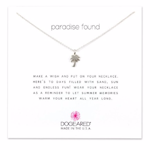 Sterling Silver Paradise Found Palm Tree Charm Necklace