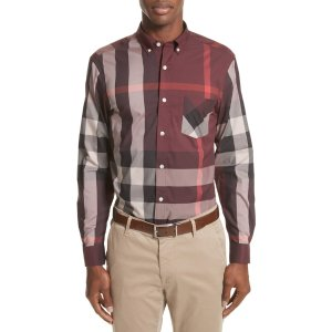 Thornaby Slim Fit Plaid Sportshirt