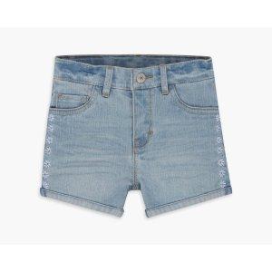 Little Girls (4-6x) Embroidery Shorty Short | Deserted Indigo |Levi's® United States (US)